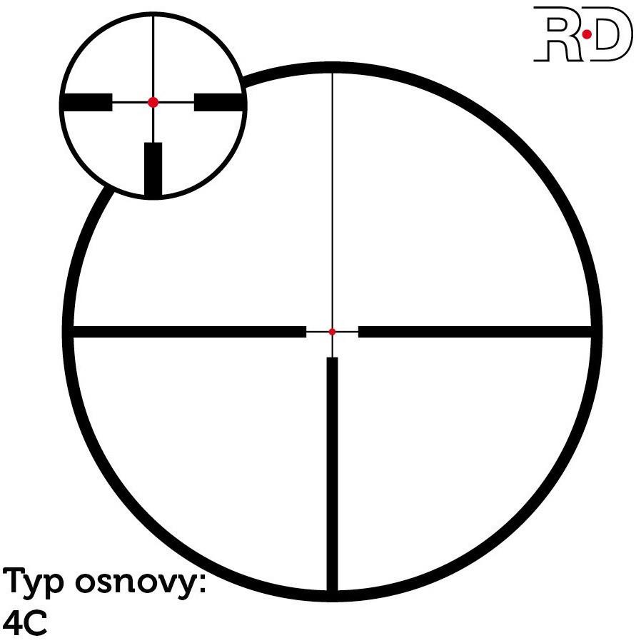 Puškohled Meopta Meostar R1r 3-12x56 RD - 4C/4K